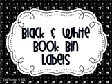 Black and White Book Bin Labels (Editable)