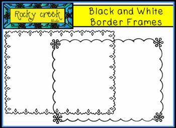 Black and White Border Frames