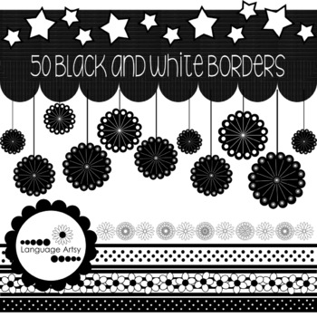 50+ Black and White Page Borders for Printables