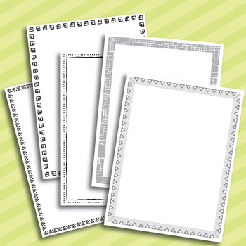 Black and White Borders – Full Page and 4/Page