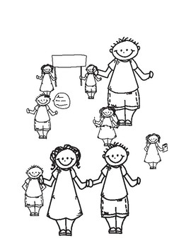 Black and White Boy and Girl Cartoon Graphics