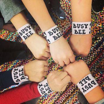 Black and White Brag Tag Bracelets for Art