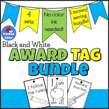 Black and White Brag Tags Bundle