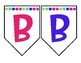 Black and White Bright Banner Letters - Every Letter and Symbol