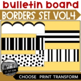 Black and White Bulletin Board Borders ll Volume 4 Wavy St