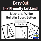 Bulletin Board Letters Black and White - Easy Cut