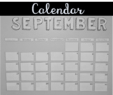 Black and White Calendar