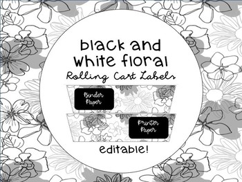 Black and White Cart Labels