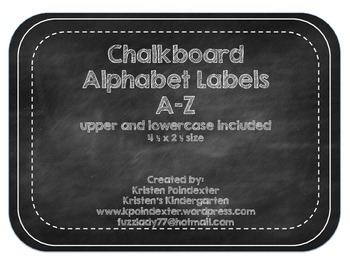 Black and White Chalkboard Alphabet Labels