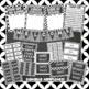 Black and White Chalkboard Classroom Decor Kit