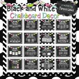 Black and White Chalkboard Decor Set