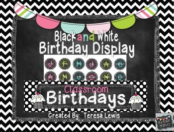 Black and White Chalkboard Decor Bundle