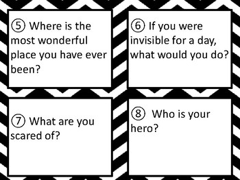 All About Me Task Cards Scoot