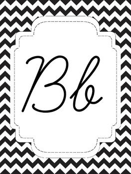 Black and White Chevron Alphabet