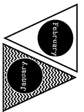 Black and White Chevron Birthday Bulletin Board Pennets