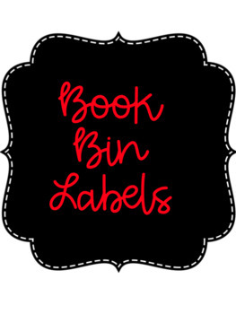 Book Bin Labels (Pre-made and Editable)