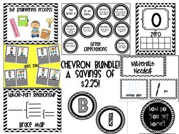 Black and White Chevron Bundle!