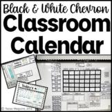 Black and White Chevron Classroom Calendar