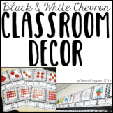 Black and White Chevron Classroom Decor {Editable}