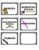 Black and White Chevron Classroom Supply Labels