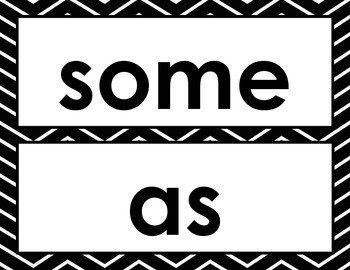 Black and White Chevron First Grade Word Wall