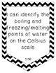 Black and White Chevron I Can Statements Fifth Grade Science TEKS