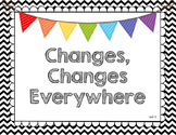 Black and White Chevron Journeys 2017 Grade 2 Focus Wall P