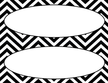 Black and White Chevron Labels and Tags