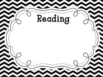 Black and White Chevron Learning Objectives/Goals Posters