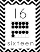 Black and White Chevron Number Posters