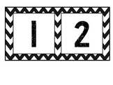 Black and White Chevron Numbers 1-100