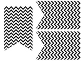 Black and White Chevron Pennant Banner