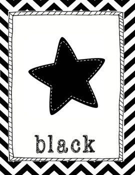 Black and White Chevron Posters Bundle Pack