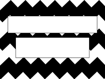 Black and White Chevron PowerPoint Template