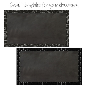 Chalkboard and Black & White Chevron PowerPoint Template