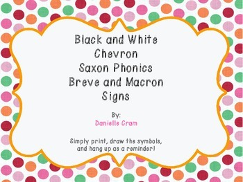 Black and White Chevron Saxon Phonics Posters