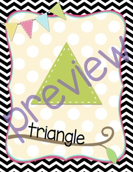 Black and White Chevron Shape Posters
