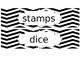 Black and White Chevron Sterlite Labels(editable)