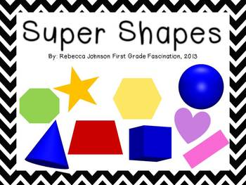 Black and White Chevron Super Shapes posters