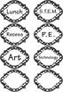 Black and White Chevron Theme with Supply Tags