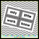 Black and White Chevron Word Wall Word Cards - Fry Word Aligned