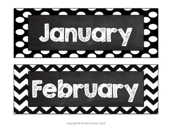 Classroom Label Set - Months, Subjects, Supplies, Letters & Numbers
