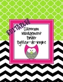 Black and White Chevron with an owl Editable Classroom Man