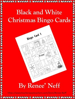 Black and White Christmas Bingo Cards ** Freebie
