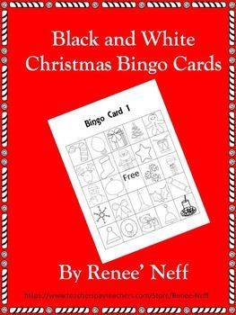 Black and White Christmas Bingo Cards ** Freebie