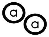 FREEBIE Black and White Circle Letters