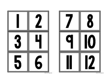 Black and White Class Numbers 1-36
