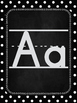 Black and White Classroom Alphabet