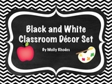 Black and White Classroom Decor