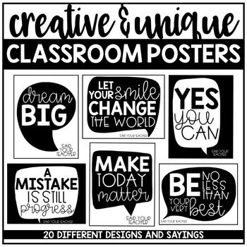 Black and White Classroom Decor